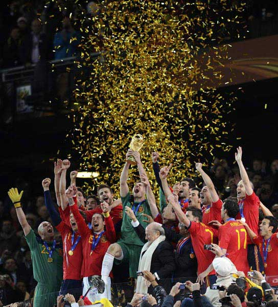 2010年10大体育新闻:西班牙夺冠 刘翔王者归来