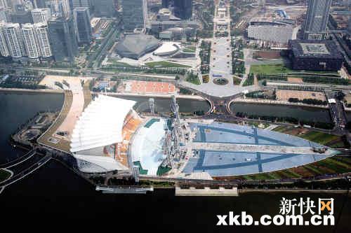 廣州海心沙公園_廣州海心沙圖片_廣州海心沙 素描圖片