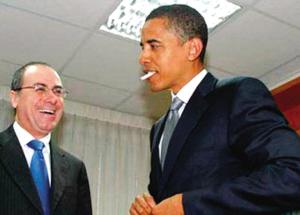 奥巴马叼着香烟的照片