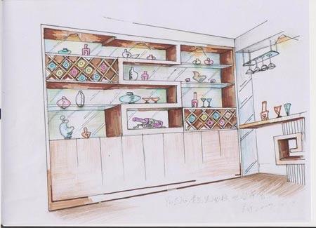 书房设计图手绘