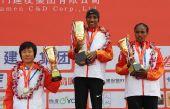 图文:2011年厦门国际马拉松赛 女子组前三甲