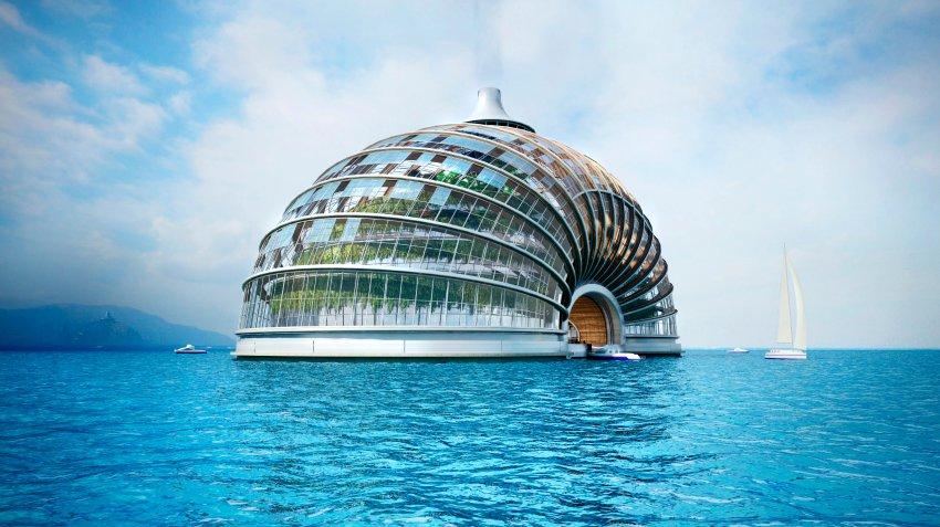 全球资讯_俄建筑师设计海上漂浮酒店应对全球变暖(组图)