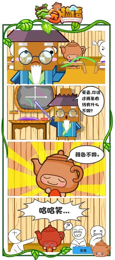 四格漫画《茶园物语》眼皮最大(2)(图)