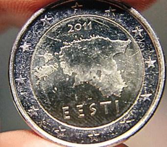 行的2011版欧元硬币-爱沙尼亚欧元上地图含俄领土 恐引爱俄外交争议图片