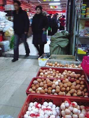 近期鸡蛋价格上涨明显记者 唐娜 摄