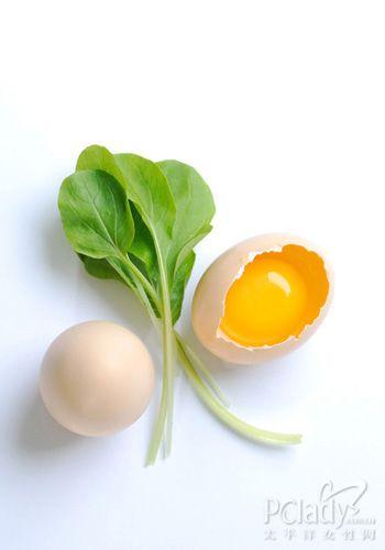 早餐搭配一:菠菜鸡蛋拌粉丝+白粥