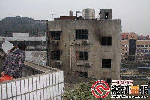这家起火的小宾馆位于长沙枫林一路303号,名叫西娜湾。三湘都市报记者 李丹 摄