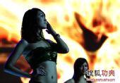 图文:2011中俄散打对抗赛 美女靓丽侧影