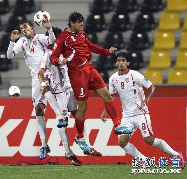 图文:伊朗队3比0阿联酋 巴洛什疑似手球