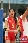 图文:北京女排3-0北航 小美女回眸