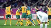 图文:澳大利亚6-0乌兹别克 澳大利亚庆祝进球