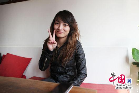 李妮娜接受中国网记者采访。图片:中国网 庄昊