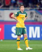 图文:亚洲杯澳大利亚获亚军 澳球员失得分机会