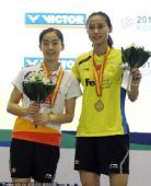 图文:韩国羽毛球超级赛决赛 两人登上领奖台