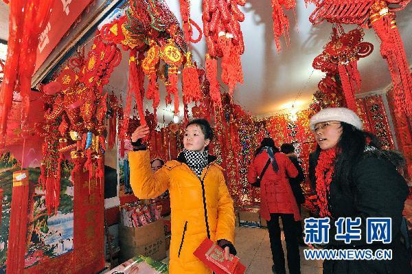 消费的便利正悄然改变着陕北人过年的习俗.图片