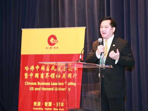 2月9日上午朱林骥代表美国联邦商务部致欢迎辞
