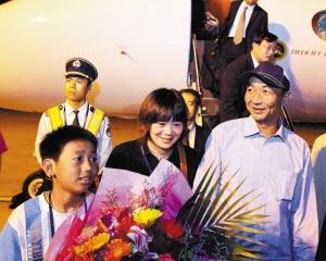 詹其雄去年9月25日回国时的照片。