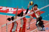 图文:天津女排3-0上海 马蕴雯拦陈丽怡