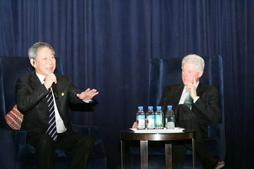 严介和与美国前总统克林顿对话交流