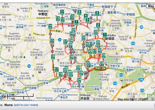 日本新宿地图
