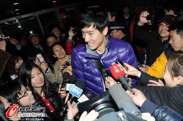 刘翔回答记者提问