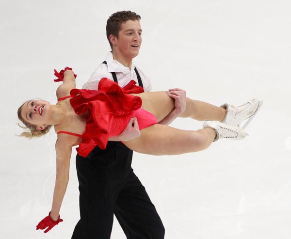 图文:花滑四大洲赛赛况 丹尼尔和玛丽曼的表演