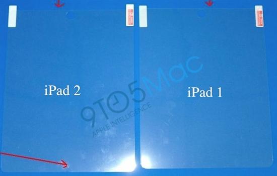 iPad 2屏幕贴膜泄露前置摄像头位置