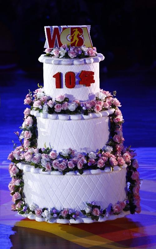 2周年生日蛋糕_图文:WCBA全明星赛 十周年生日蛋糕-搜狐体育