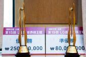 图文:第15届LG杯颁奖仪式 冠亚军奖杯相同