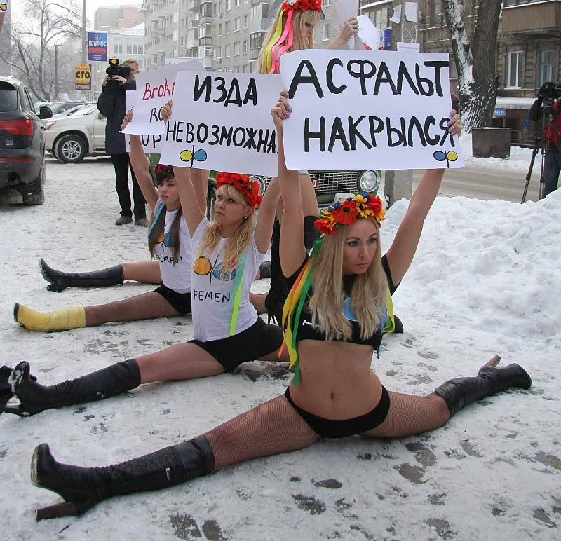 乌克兰美女雪地裸身示威组图 搜狐滚动