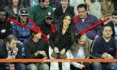 卡戴珊NBA看台吸睛无数 众男不看球只看她(图)