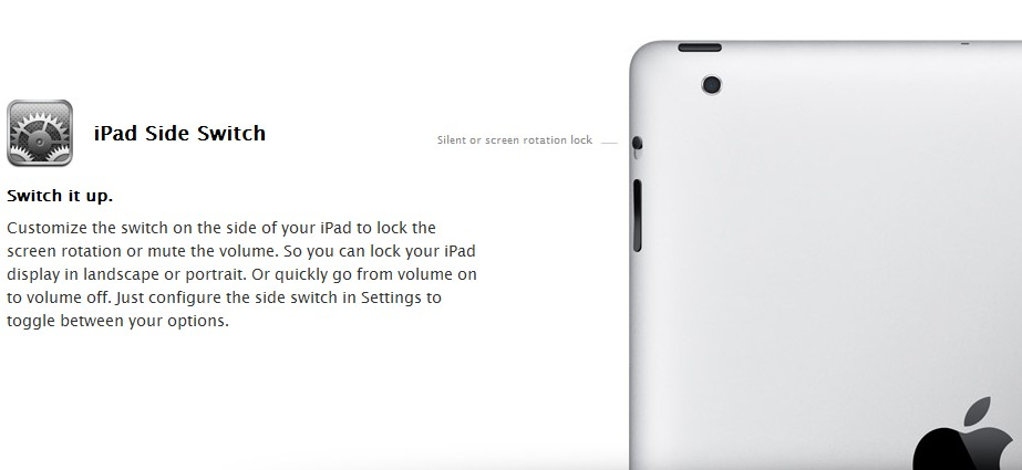 iPad侧面按键功能人性化变动