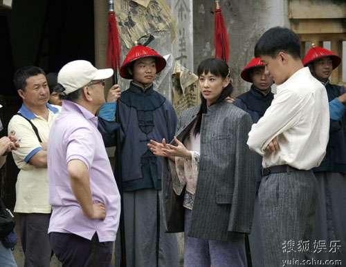 黄圣依和佟大为沟通演戏