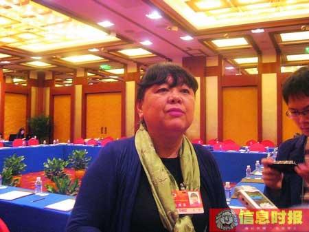 全国政协委员王平接受记者采访