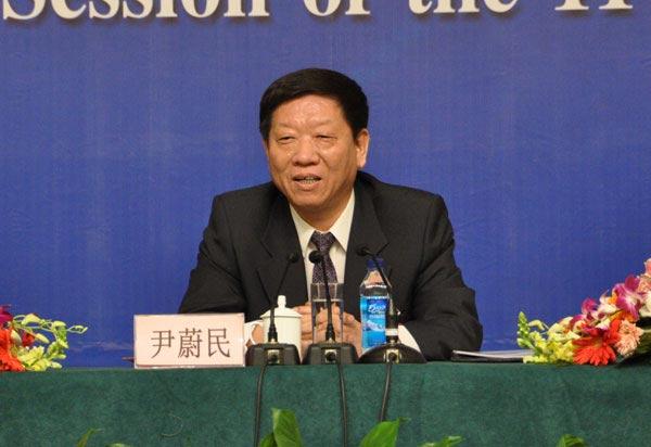 人力资源和社会保障部部长尹蔚民