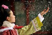 图文:组图:若曦在雪中漫步