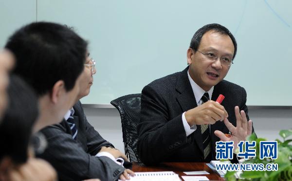 3月3日,全国政协委员李惠森在北京接受记者采访.图片