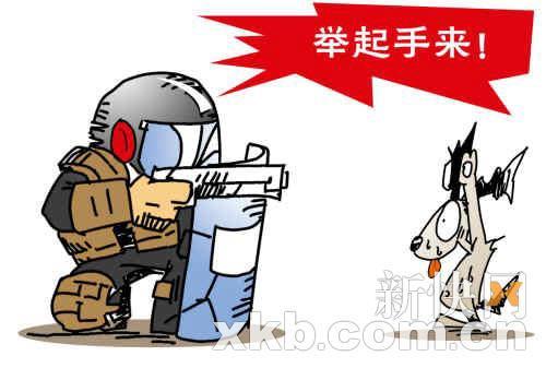 举起手来!王云涛漫画