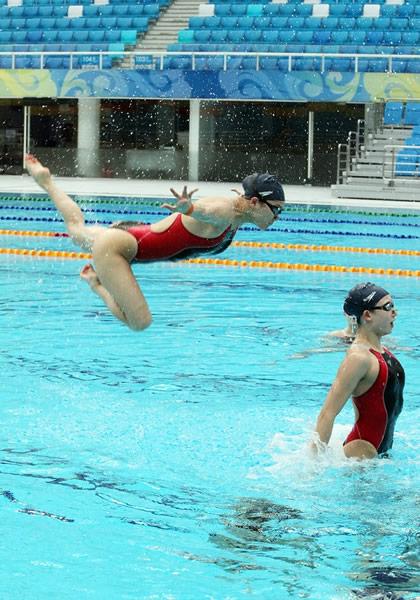 游泳 花樣游泳動態圖片