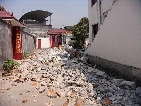 盈江县城房屋受损严重