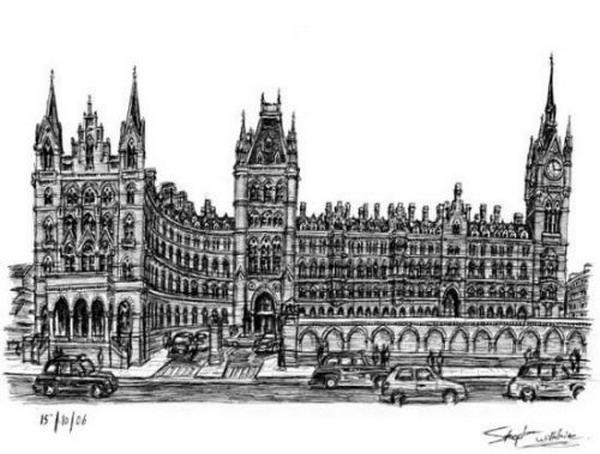 St.Pancras火车站外景