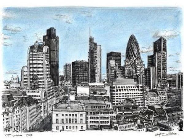 从伦敦大火纪念碑上看伦敦