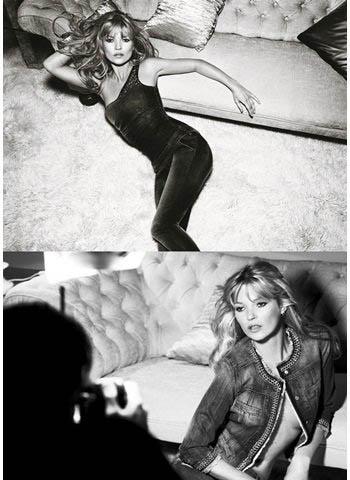 Kate Moss 为Liu Jo 拍摄的最新一辑春夏广告。