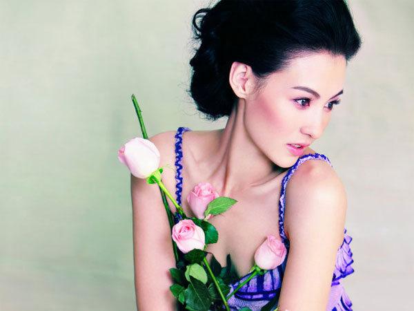 中国香港中英混血美女张柏芝