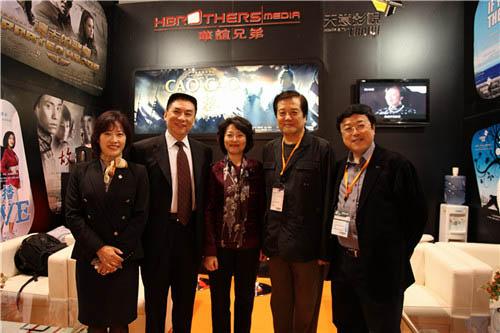 总局领导与台湾同业协会领导莅临华谊天意香港影视展展台