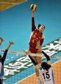 图文:[女排]恒大3-1上海进决赛 手臂很直