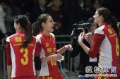 图文:[女排]恒大3-1上海 乔瓦娜搞笑