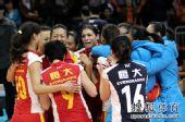 图文:[女排]恒大3-1上海 乔瓦娜激动落泪?