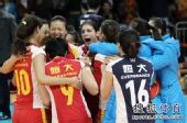 图文:[女排]恒大3-1上海 又喊又叫