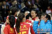 图文:[女排]恒大3-1上海 索玛庆祝